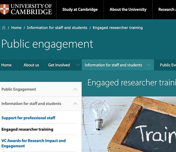 Cambridge Public Engagement Workshops