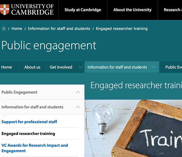 Cambridge Public Engagement Workshops